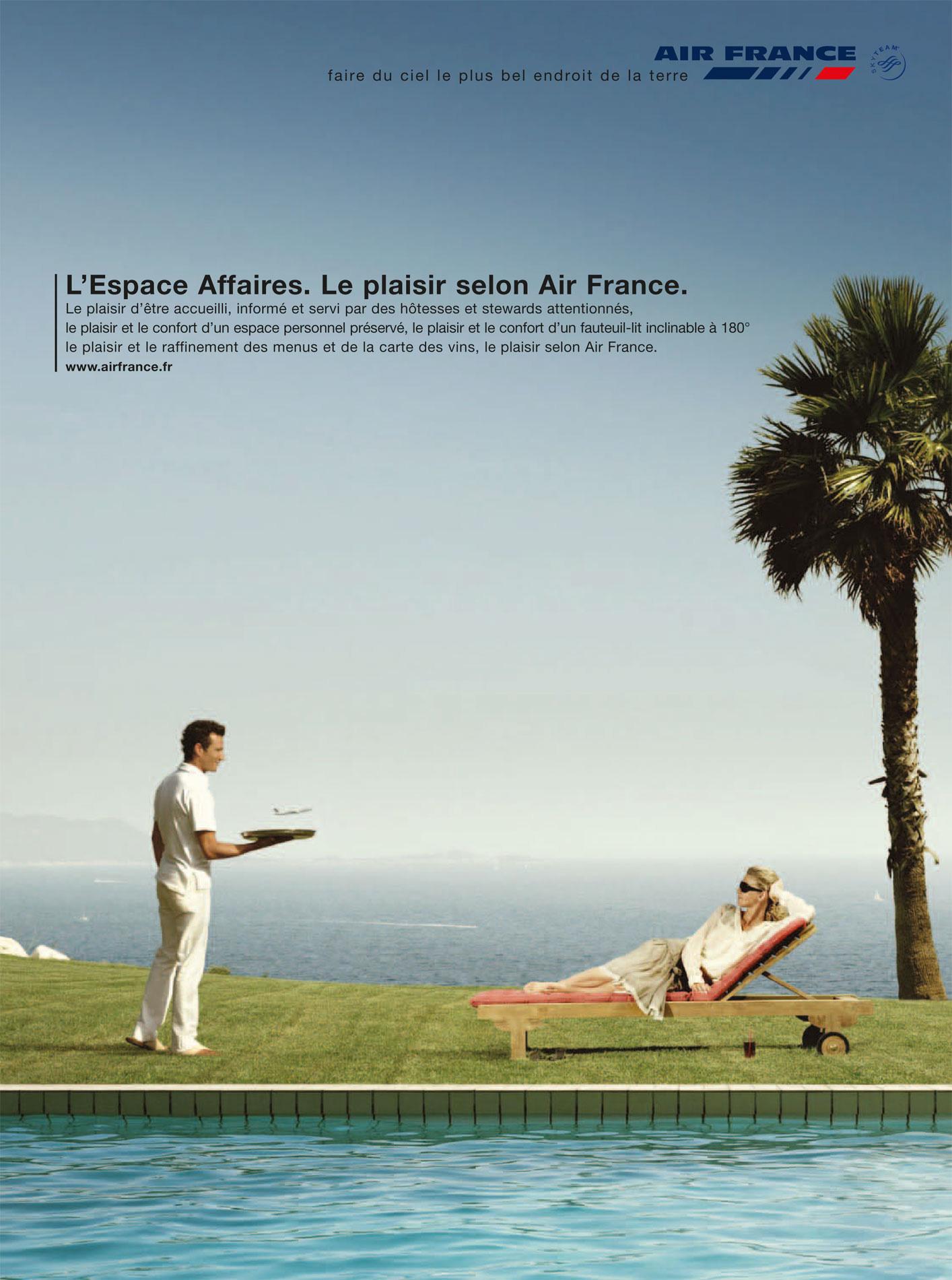production photographique de luxe pour air france