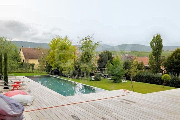 Location Villa Contemporaine En Bois Avec Piscine Pour Photos