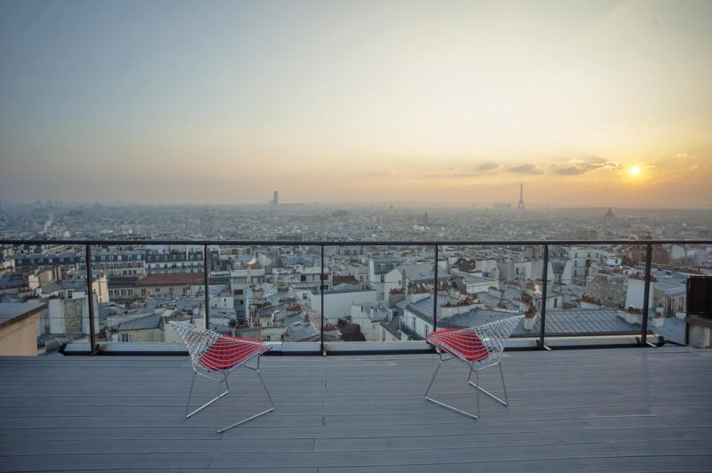 Appartement avec vue tour eiffel pour tournage paris