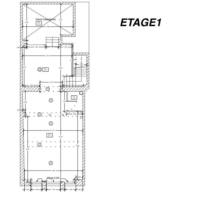 espace 1er étage showroom  paris