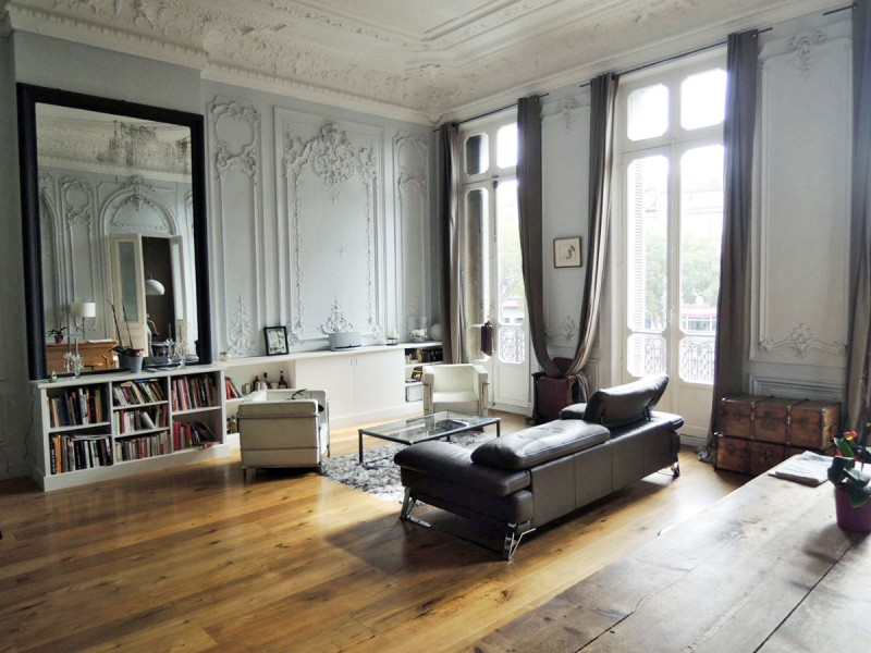 Location d 39 appartement de type haussmannien pour shooting for Photo salon dappartement