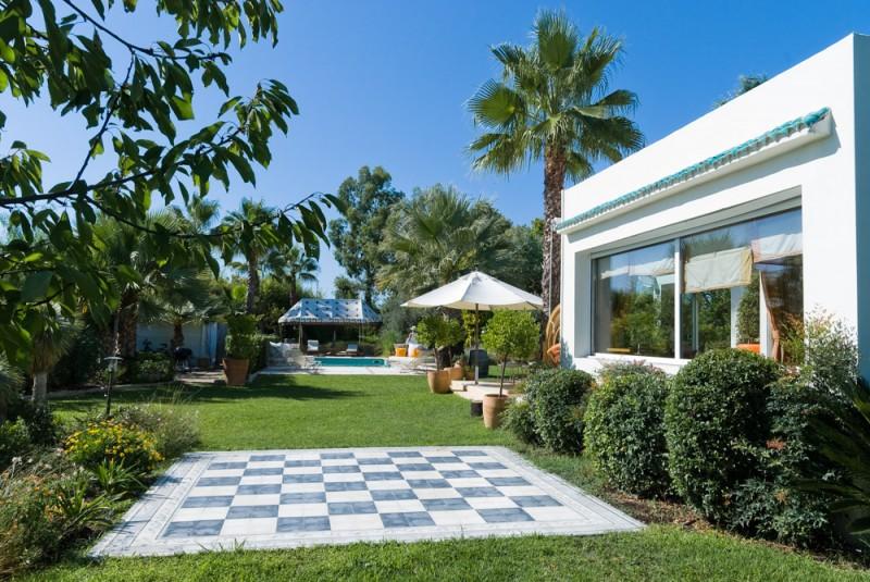 maison avec patio pour prises de vues