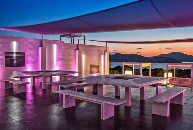 maison contemporaine à louer pour lancement de produit Ibiza
