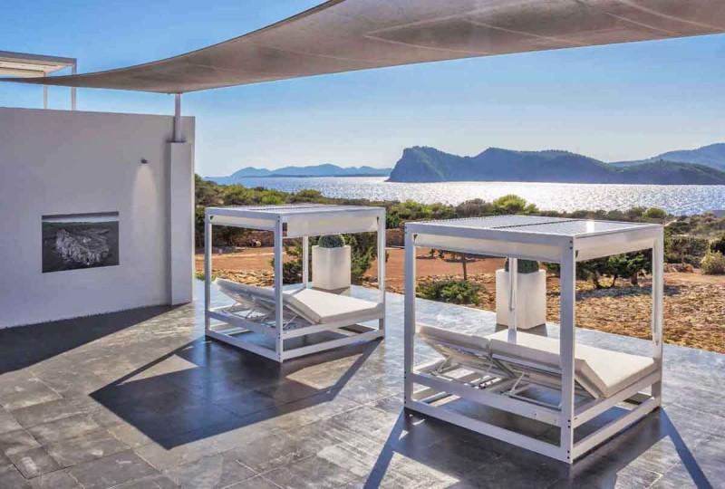 villa contemporaine vue mer pour production photo