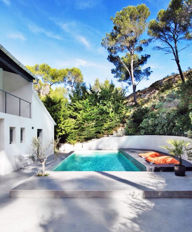 maison contemporaine avec piscine pour prises de vues paca