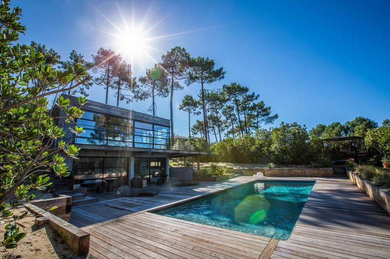 villa contemporaine pour shooting cap ferret