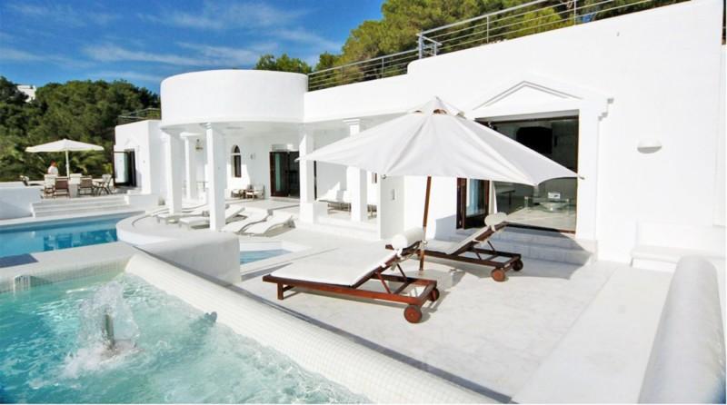 villa contemporaine pour prises de vues Ibiza