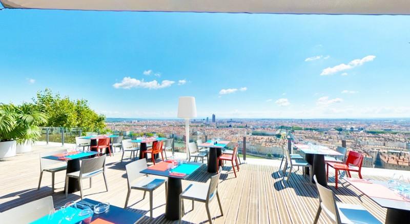 vue panoramique sur Lyon pour tournage