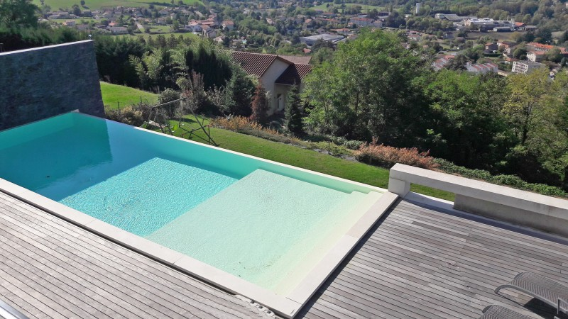 piscine vue montagne shooting