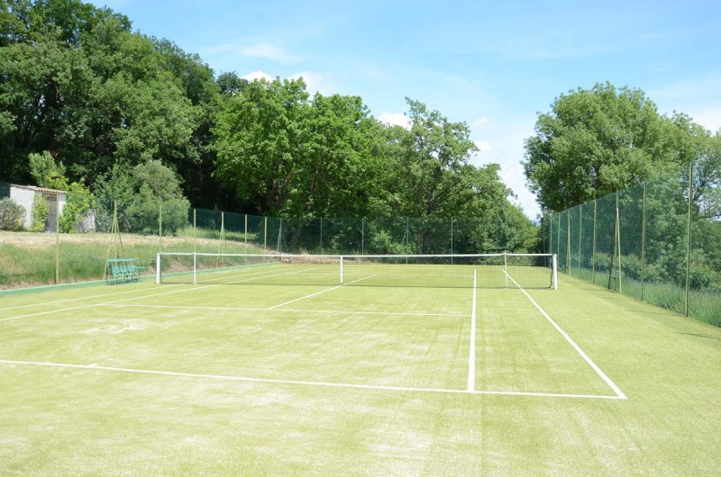 Court de tennis pour shooting photo
