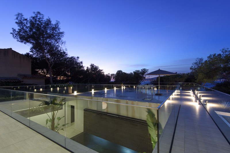 villa contemporaine pour prises de vues