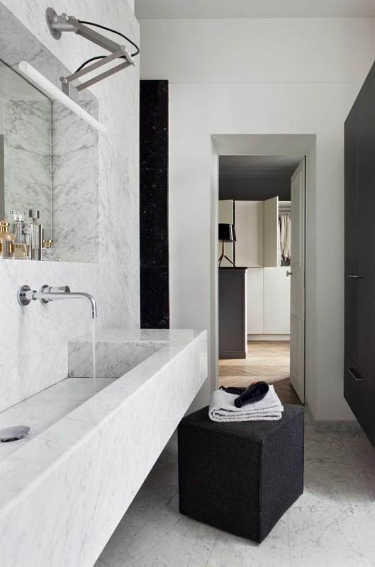 salle de bain contemporaine pour tournage