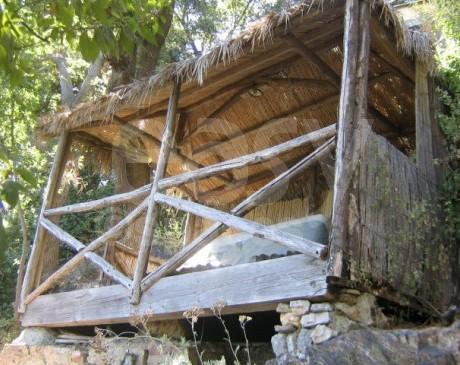 cabane en bambous dans jardin  à louer à toulon var