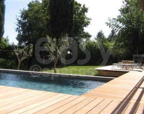 terrasse bois vue campagne de maison moderne cassis france 13