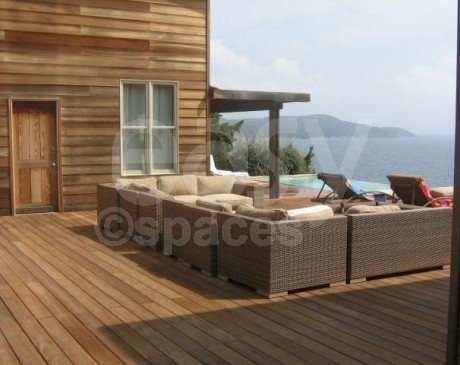 location maison en bois pour production photo saint tropez PACA