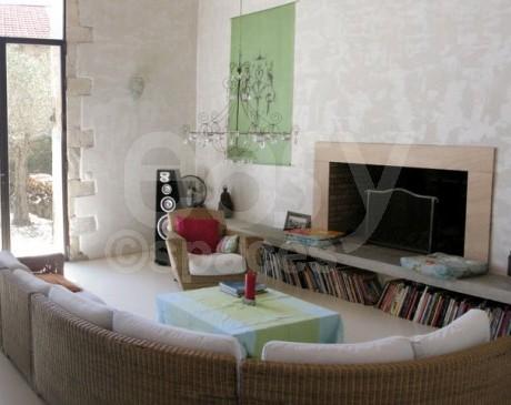 panorama salon Lieu pour Tourner un spot publicitaire avec cheminée