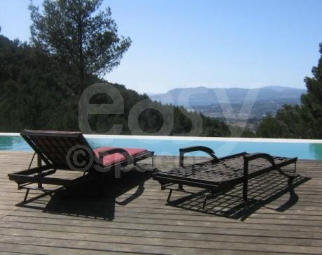 Villa avec piscine et vue panoramique sud de la France