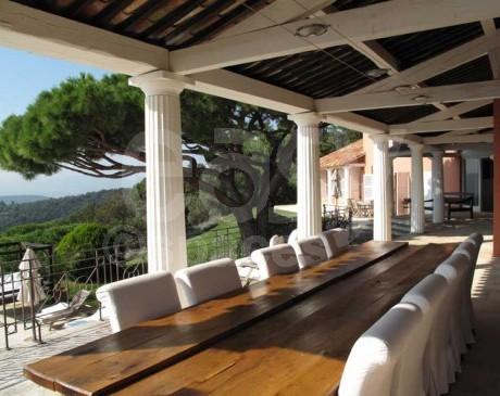terrasses avec vue mer maison provençale saint tropez