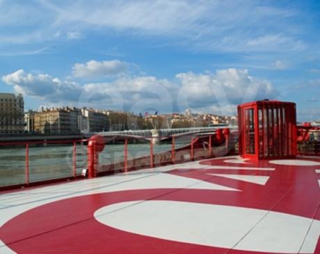 bateau en location pour reception Lyon rhone