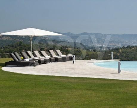 villa avec héliport pour prises de vues photo sur Cannes