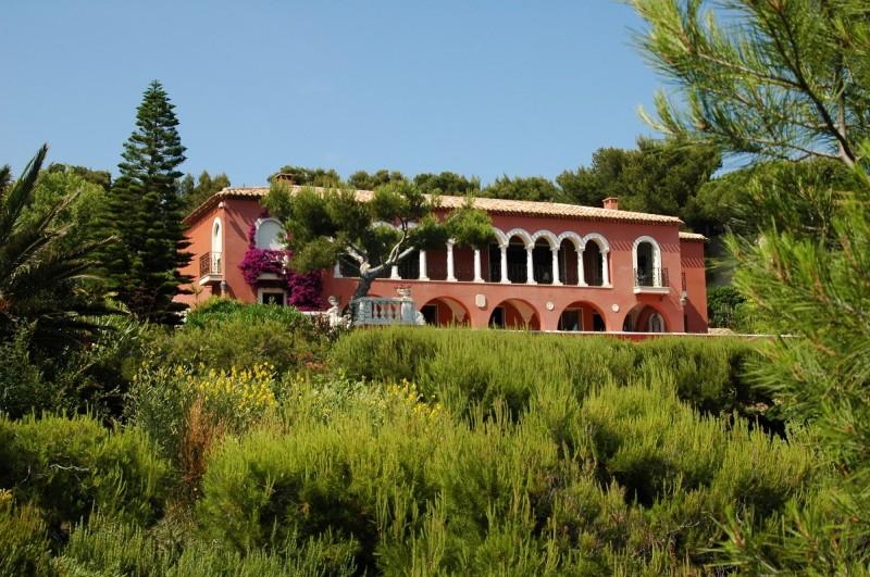 villa avec piscine vue mer tournage