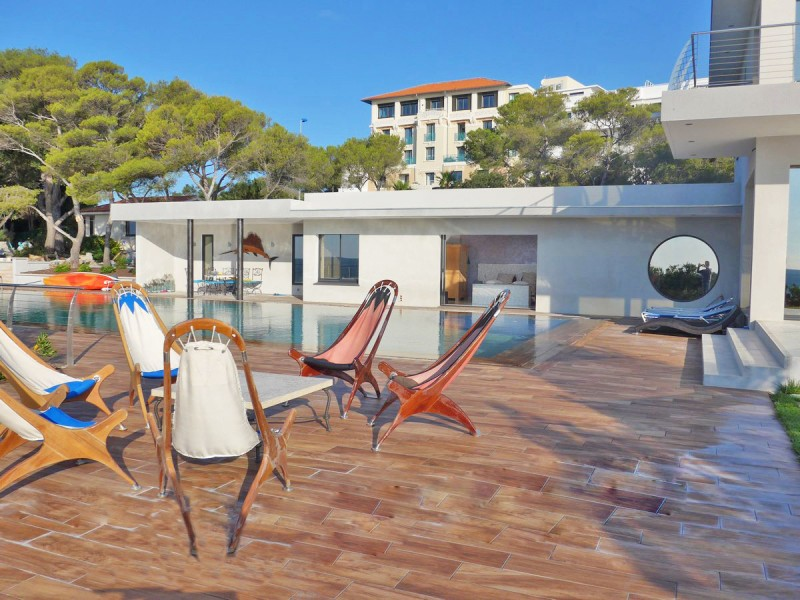 villa contemporaine vue mer photo